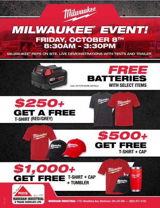 Milwaukee October 8th Event